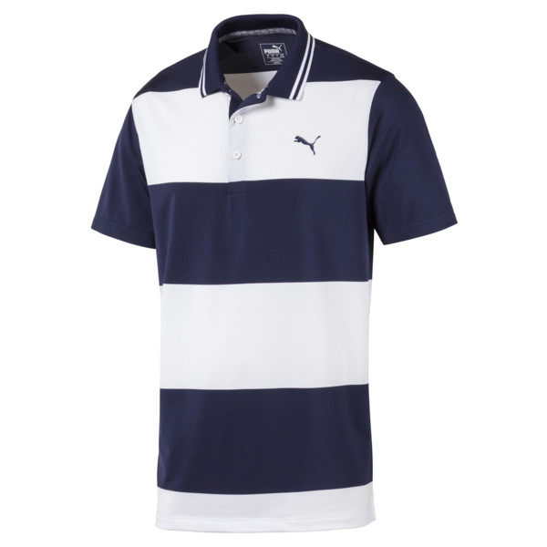 Rugby Men's Golf Polo, Peacoat-Bright White, large