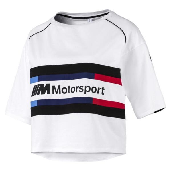 BMW M Motorsport Street Damen T-Shirt, Puma White, large