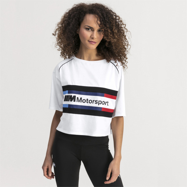 BMW M Motorsports Women's Street Tee, Puma White, large