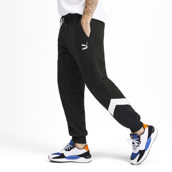 Iconic MCS Men's Track Pants, Puma Black, large