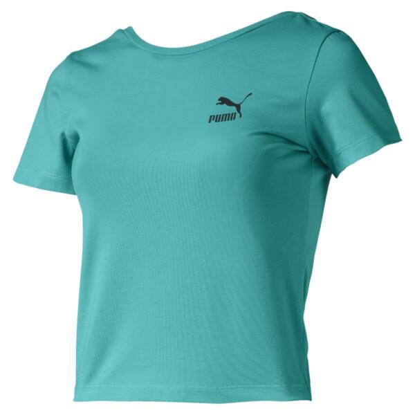 Camiseta Claw para mujer, Blue Turquoise, grande