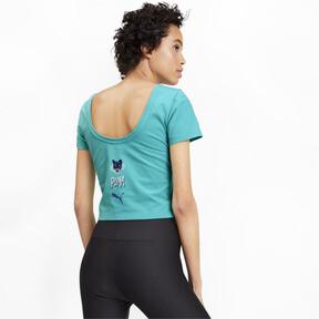 Miniatura 3 de Camiseta Claw para mujer, Blue Turquoise, mediano