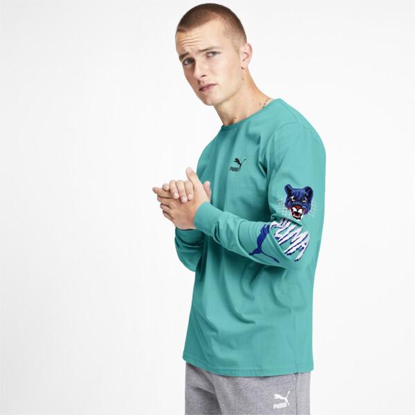 Camiseta Claw Pack de mangas largas para hombre, Blue Turquoise, grande