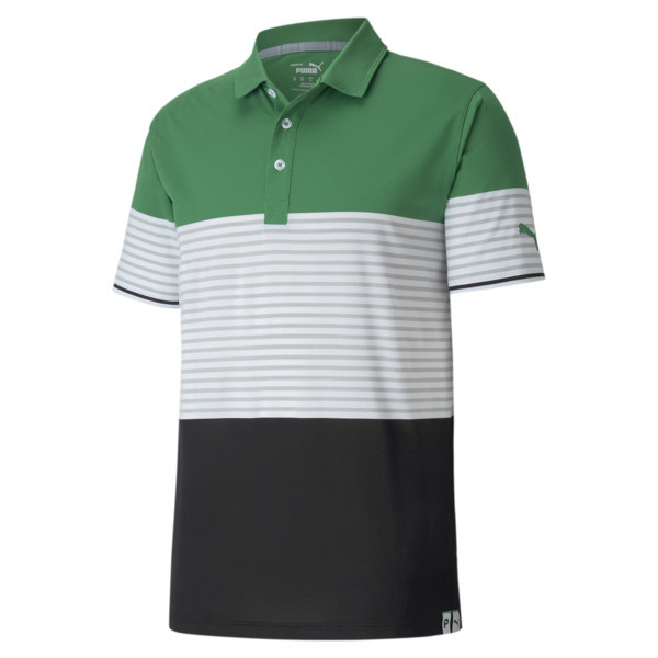 puma cloudspun taylor men's polo shirt in amazon green, size m