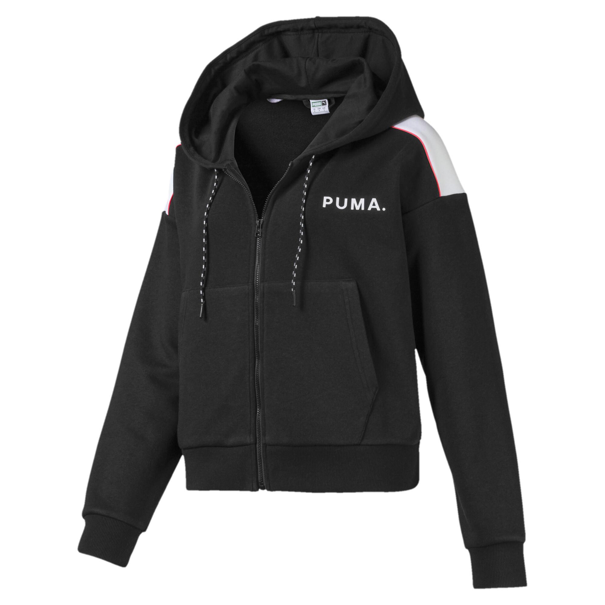 プーマ CHASE ウィメンズ クロップド フーデッドジャケット ウィメンズ Puma Black |PUMA.com