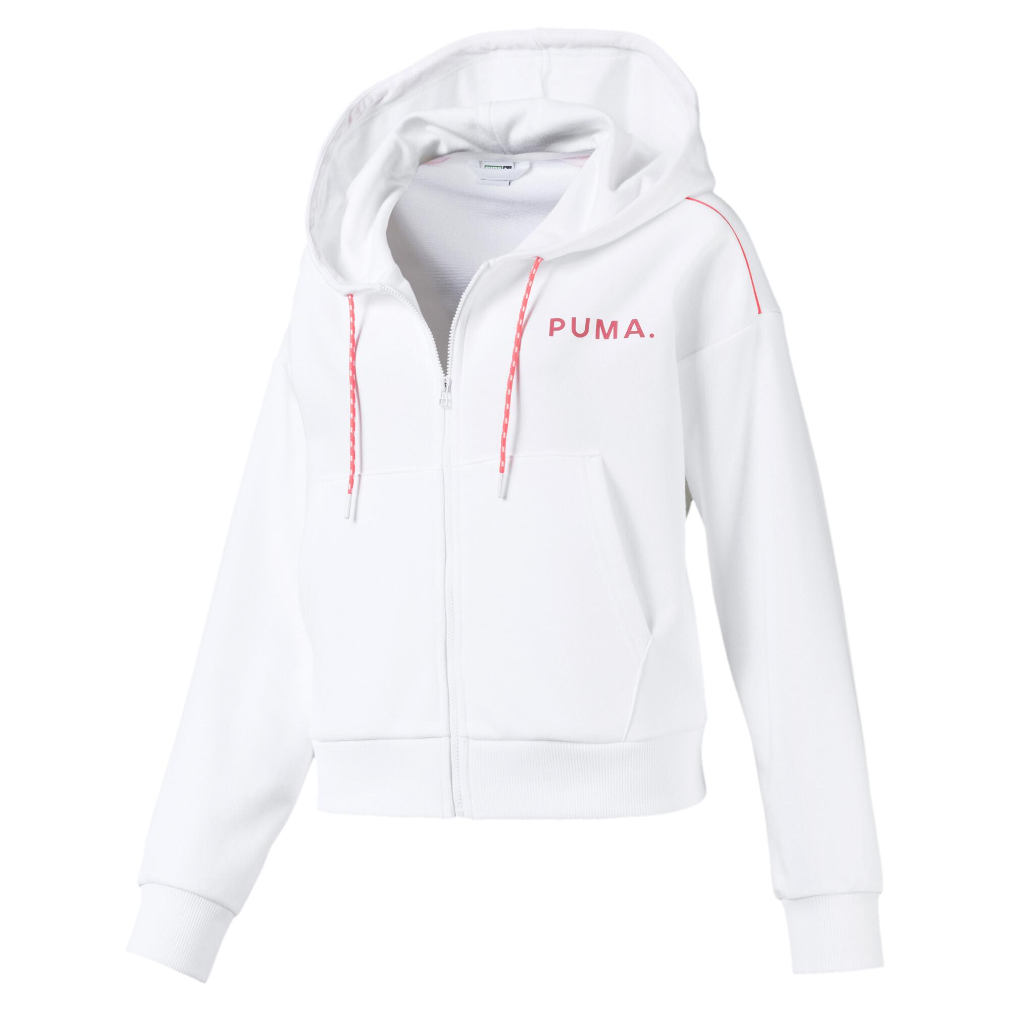 プーマ CHASE ウィメンズ クロップド フーデッドジャケット ウィメンズ Puma White |PUMA.com