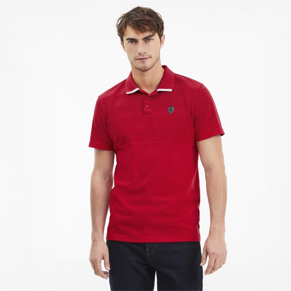 Изображение Puma Поло Ferrari Striped Polo #1