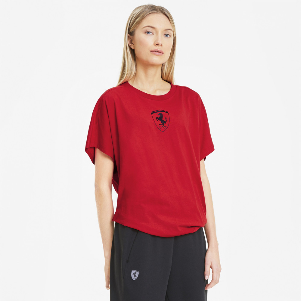 Изображение Puma Футболка Ferrari Wmn Big Shield Tee #1