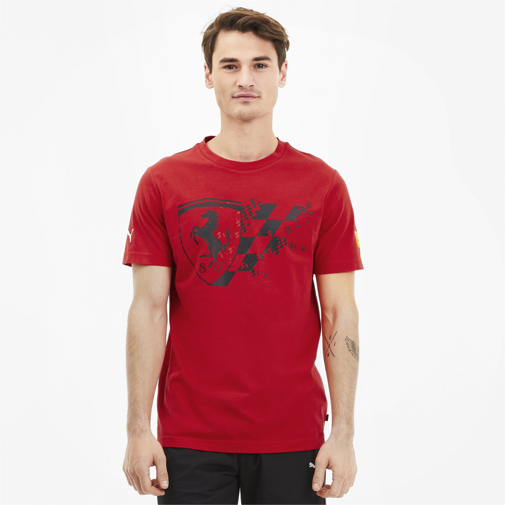 Image Puma Scuderia Ferrari Big Shield Men's Tee+ #1