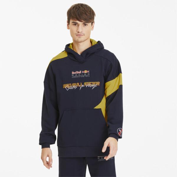 puma red bull racing street men's hoodie in black, size s