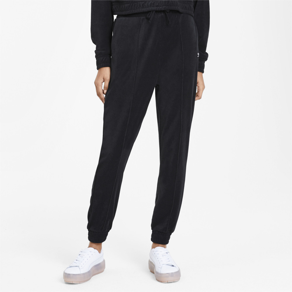 Image Puma Downtown Tapered Women's Sweatpants #1