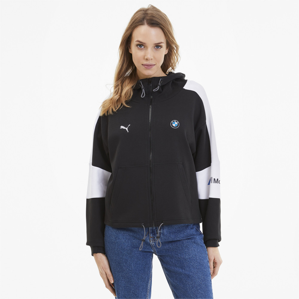 Image Puma BMW M Motorsport Hooded Women's Sweat Jacket #1