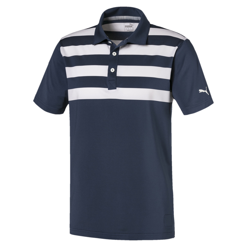 Image Puma Pars and Stripes Men's Golf Polo Shirt #1