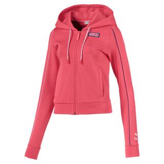 Imagen PUMA Polerón con capucha y cierre completo Colour Block Knitted para mujer