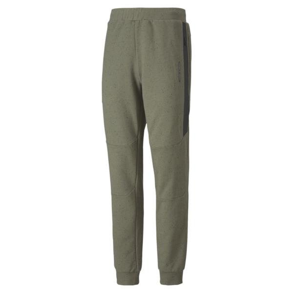 puma porsche design men's sweatpants in deep lichen green heather, size s
