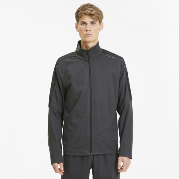 puma porsche design men's t7 track jacket in asphalt grey, size xxl