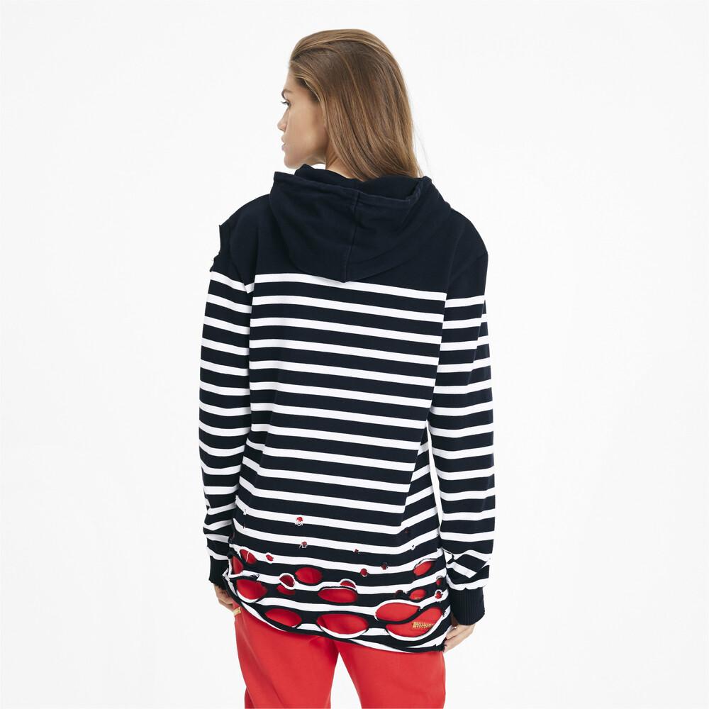 Görüntü Puma PUMA x BALMAIN Kapüşonlu Çizgili Kadın Sweatshirt #2