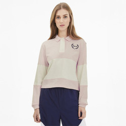 PUMA x SELENA GOMEZ Uzun Kollu Rugby Kadın Polo T-Shirt