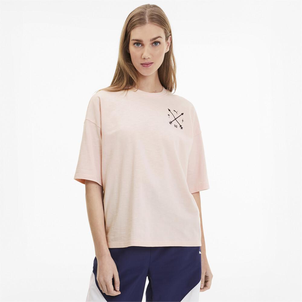 Görüntü Puma PUMA x SELENA GOMEZ Bol Kesim Kadın T-Shirt #1