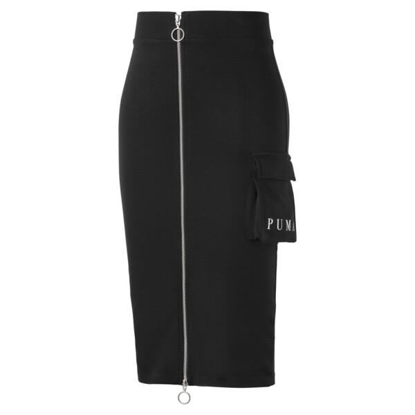 Midi Women's Skirt, Puma Black, large
