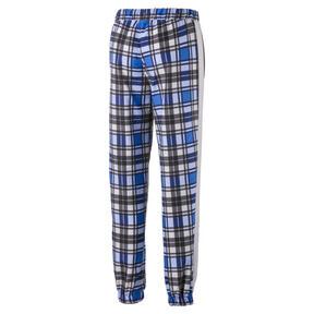 Thumbnail 3 of Check Woven Women's Jog Pants, Strong Blue, medium