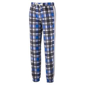 Thumbnail 2 of Check Woven Women's Jog Pants, Strong Blue, medium