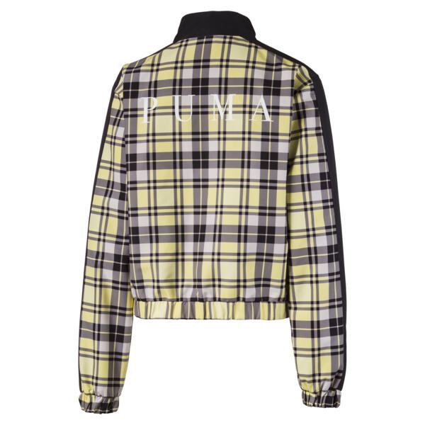 Check Damen Gewebte Jacke, Yellow Cream, large