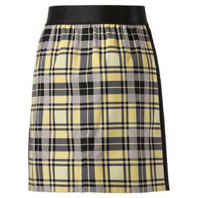 Thumbnail 3 van Geruite rok voor vrouwen, Geel crème, medium