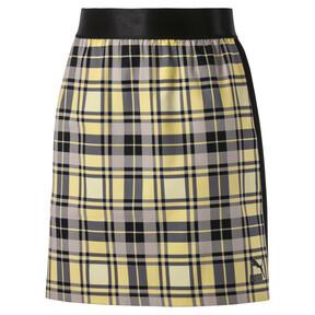 Thumbnail 2 van Geruite rok voor vrouwen, Geel crème, medium