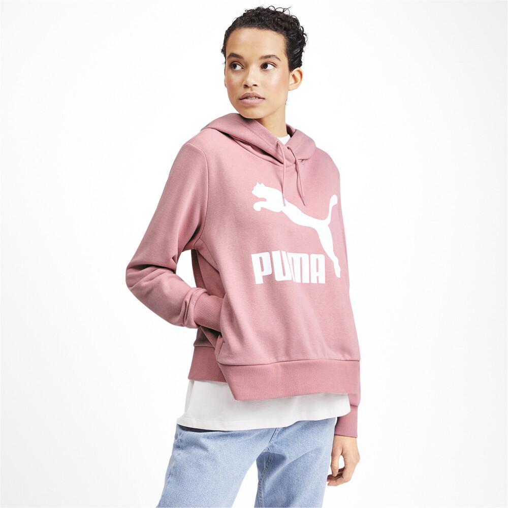 Görüntü Puma CLASSICS Logo Kapüşonlu Kadın Sweatshirt #1