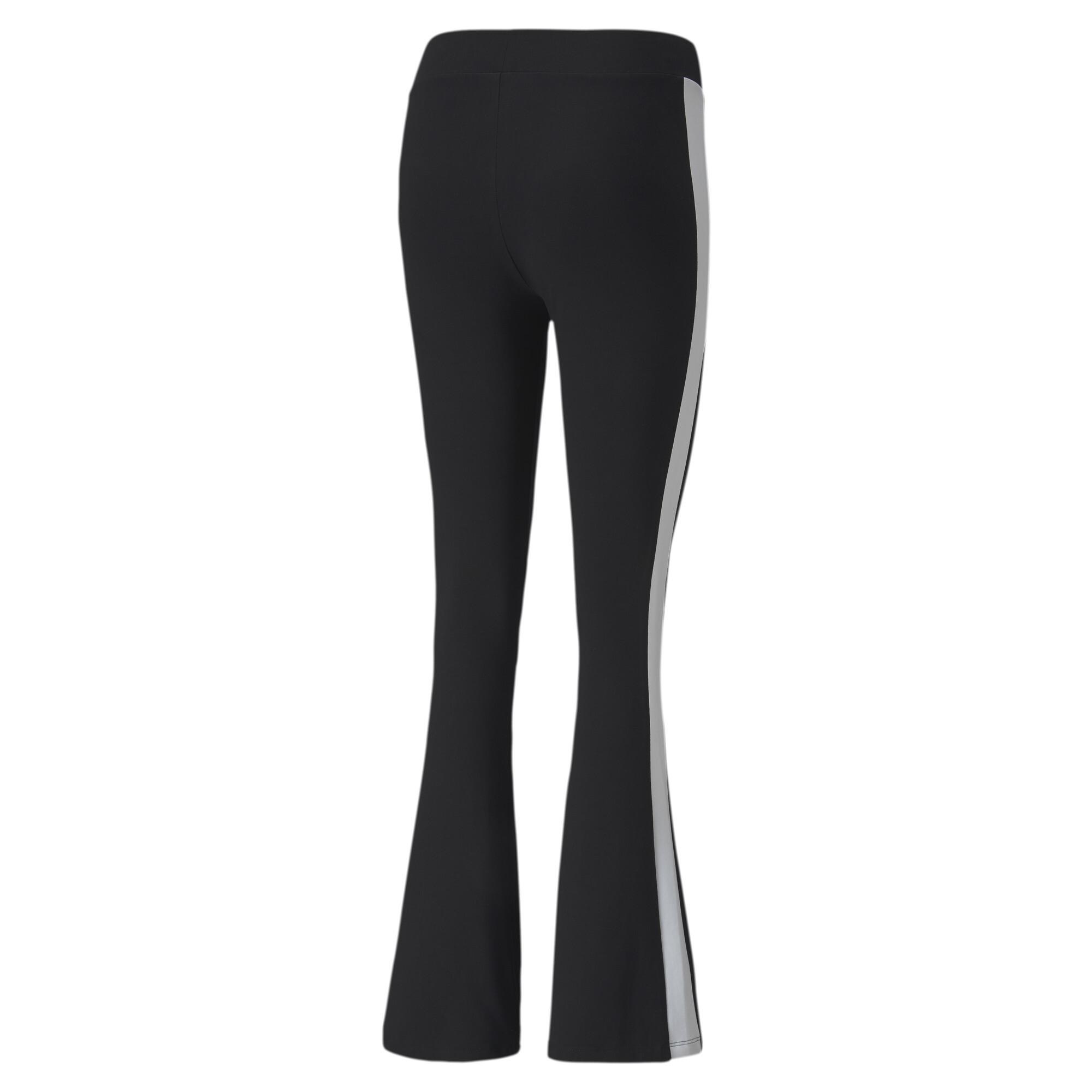 PUMA-Classics-Logo-Women-039-s-Flared-Leggings-Sport-Classics thumbnail 3