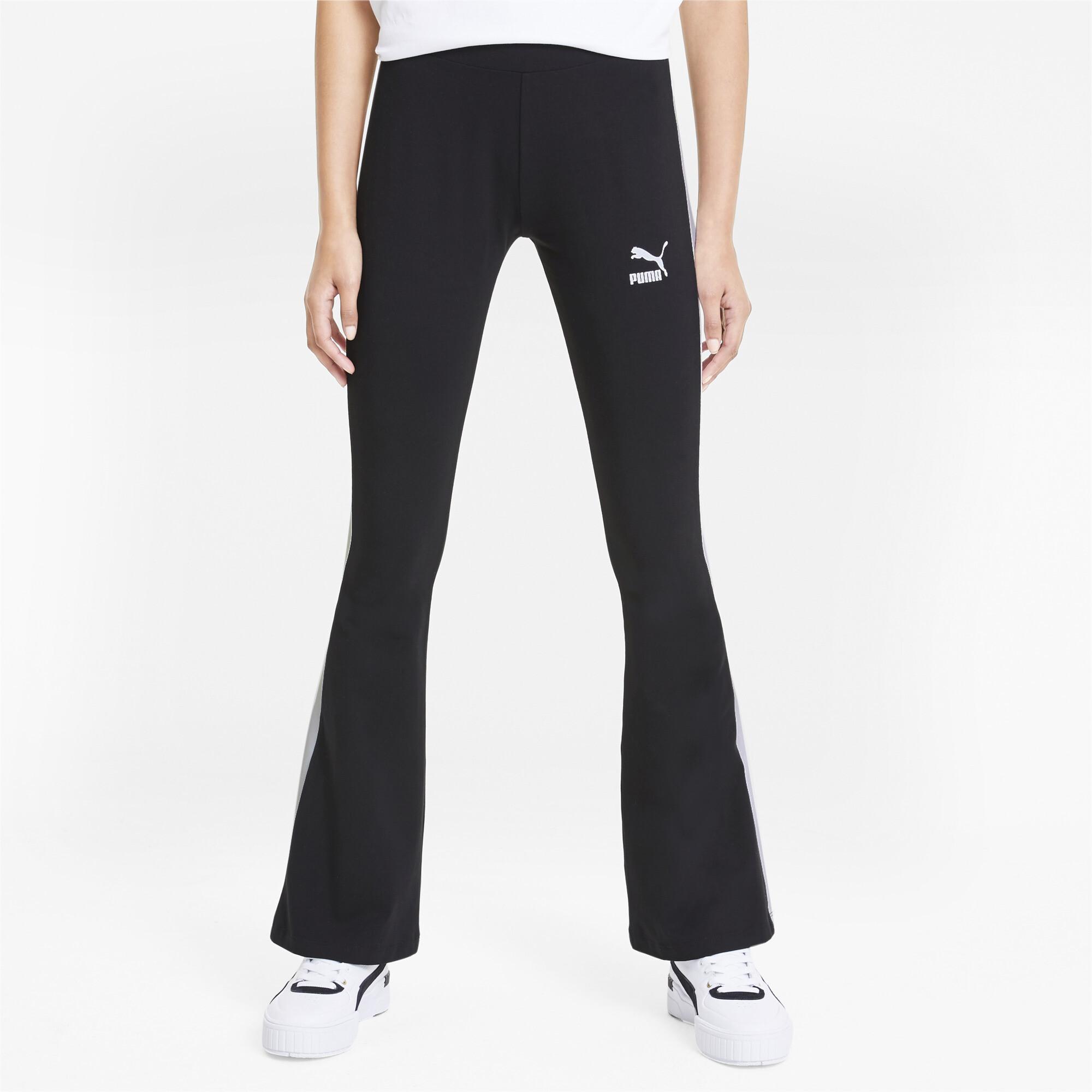 PUMA-Classics-Logo-Women-039-s-Flared-Leggings-Sport-Classics thumbnail 4
