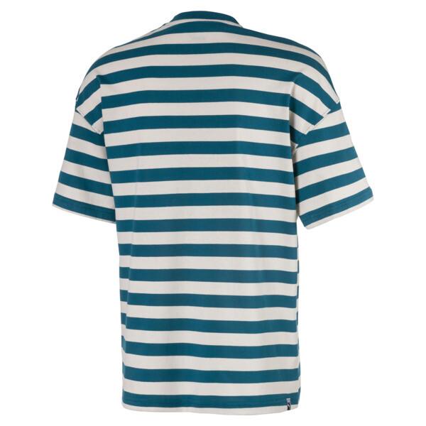 Breton Stripes Boxy Men's Tee, Blue Coral-Dove, large