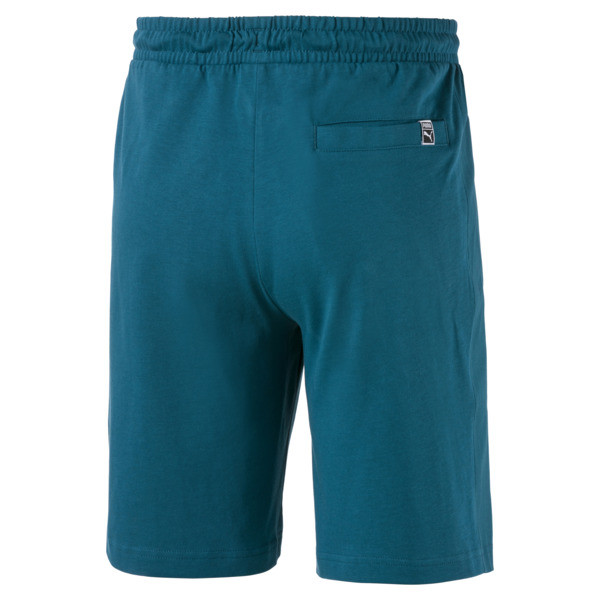 Jersey Knitted Men's Shorts, Blue Coral, large