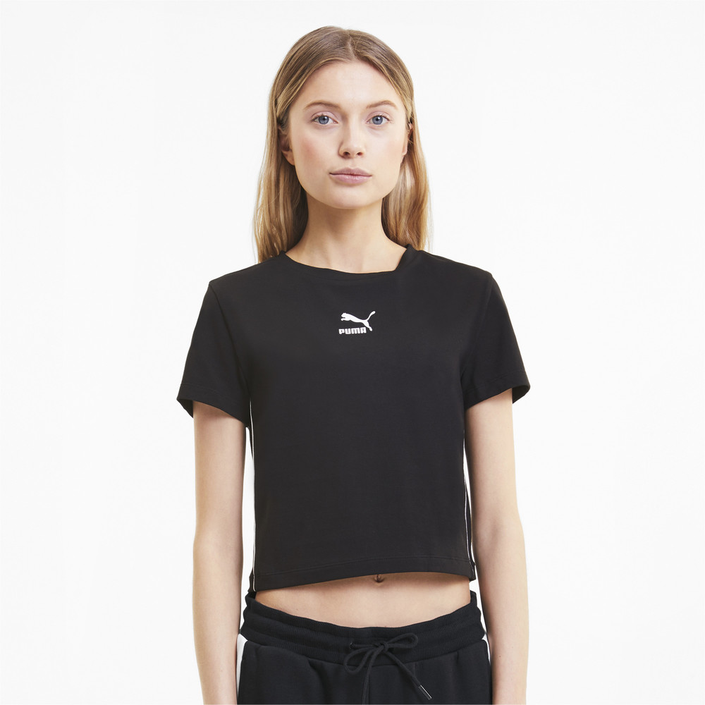 Image Puma Classics Cropped Short Sleeve Women's Tee #1