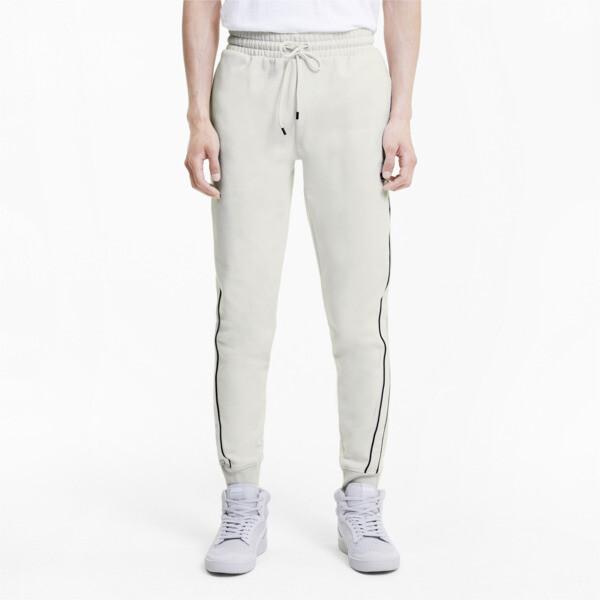 puma avenir men's track pants in vaporous grey, size xl