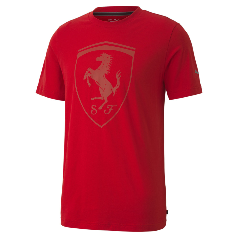 Image Puma Scuderia Ferrari Style Big Shield Men's Tee+ #1