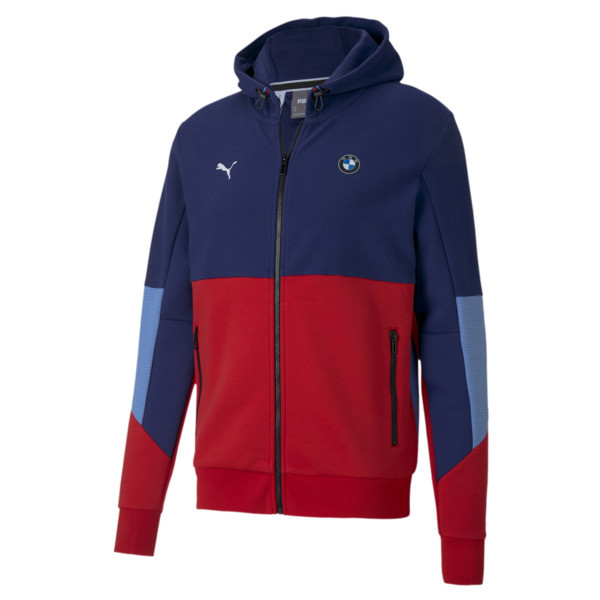 Elevated motorsport arrives in classic form with this BMW Hooded Sweat Jacket. Sleek and structured, with bold branding and durable materials, youll bring sophistication to modern motorsport style. | PUMA BMW M Motorsport Men\\'s Hooded Sweat Jacket in Medium Colors, Size S