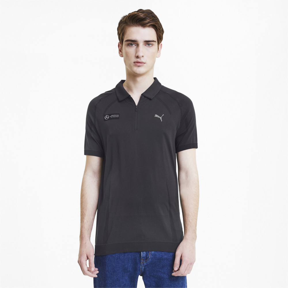 Image Puma Mercedes RCT evoKNIT Men's Polo Shirt #1