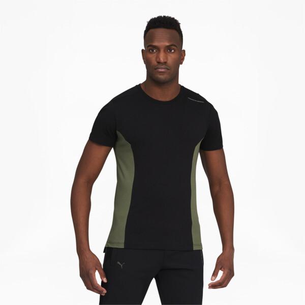 puma porsche design men's rct t-shirt in jet black, size l
