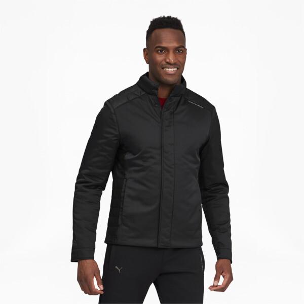puma porsche design men's racing jacket in jet black, size s
