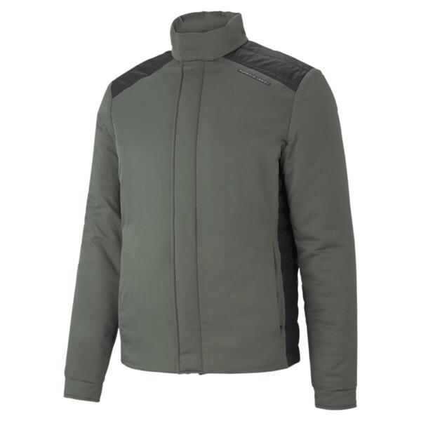 puma porsche design men's racing jacket in thyme green, size l