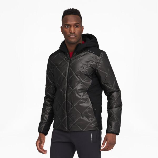 puma porsche design men's padded jacket in jet black, size m