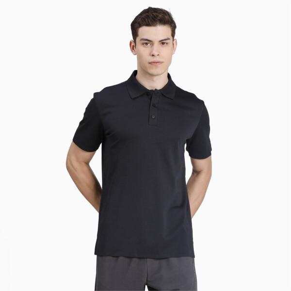 puma porsche design men's polo shirt in jet black, size m