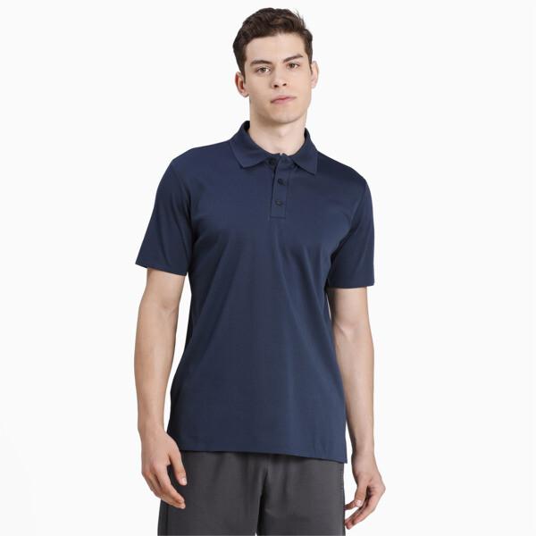 puma porsche design men's polo shirt in dark blue, size s