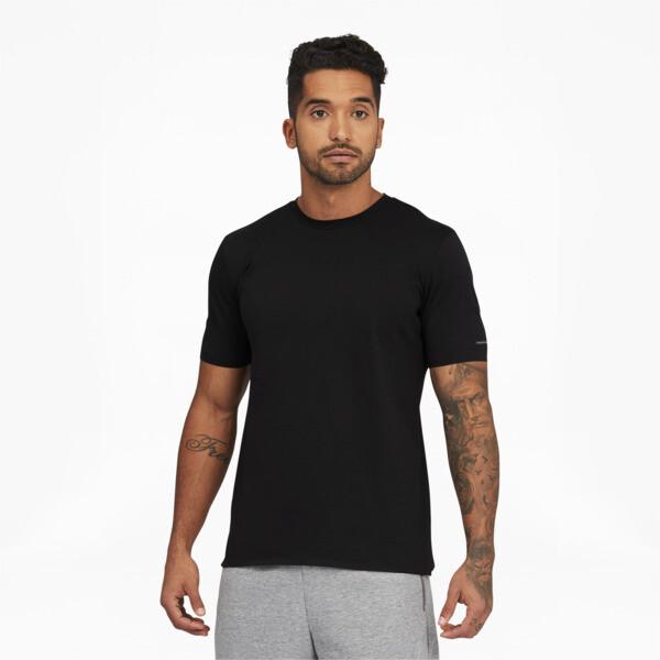 puma porsche design men's essential t-shirt in jet black, size l