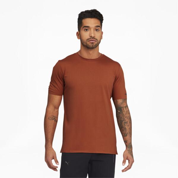 puma porsche design men's essential t-shirt in auburn, size l