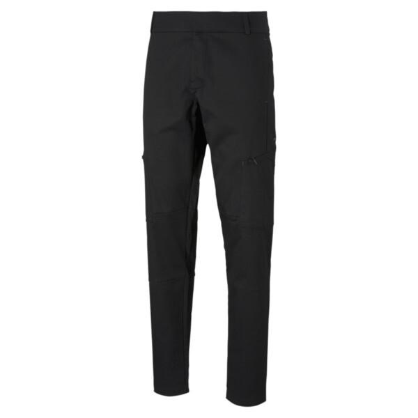 puma porsche design men's cargo pants in jet black, size 30