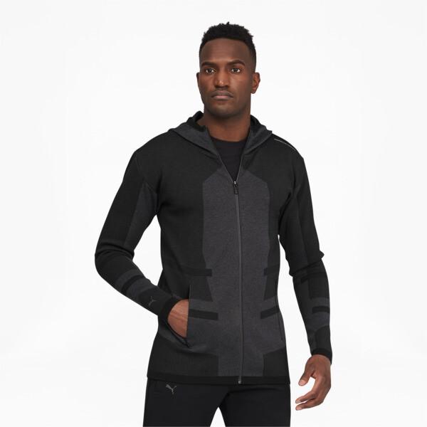 puma porsche design evoknit active men's midlayer jacket in asphalt grey, size l
