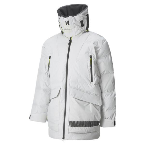 puma x helly hansen tech men's winter jacket in glacier grey, size l